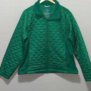 L.L. Bean Puffer Jacket green polyester Thinsulate